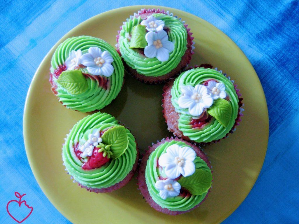 Cupcakes fragola e pistacchio